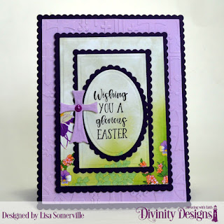 Divinity Designs Stamp Set: Glorious Easter, Custom Dies: Rectangles, Scalloped Rectangles, Ovals, Scalloped Ovals, Embossing Folder Die/Duo: Cross