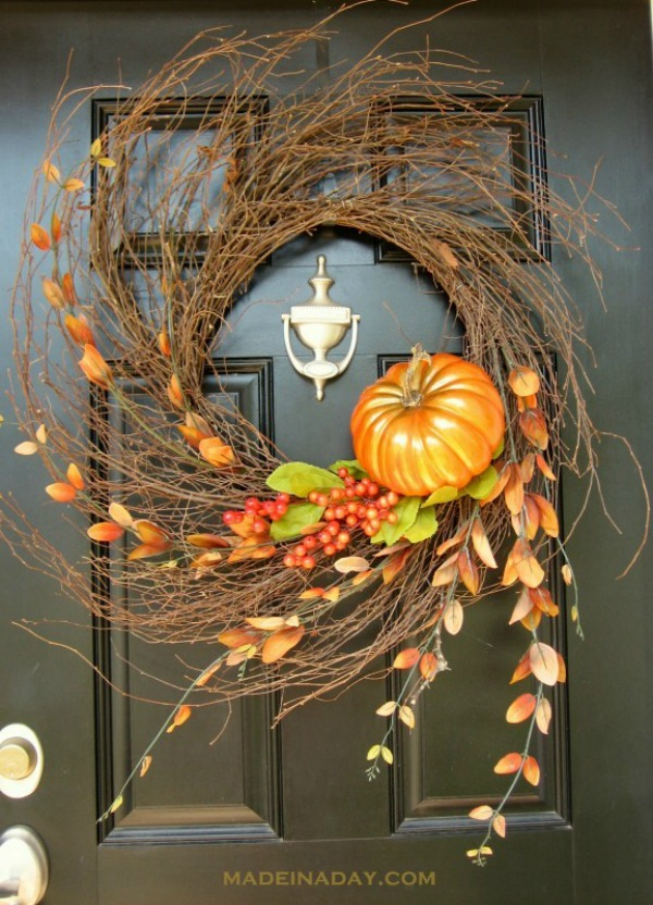 Fall Wispy Wreath from Made in a Day