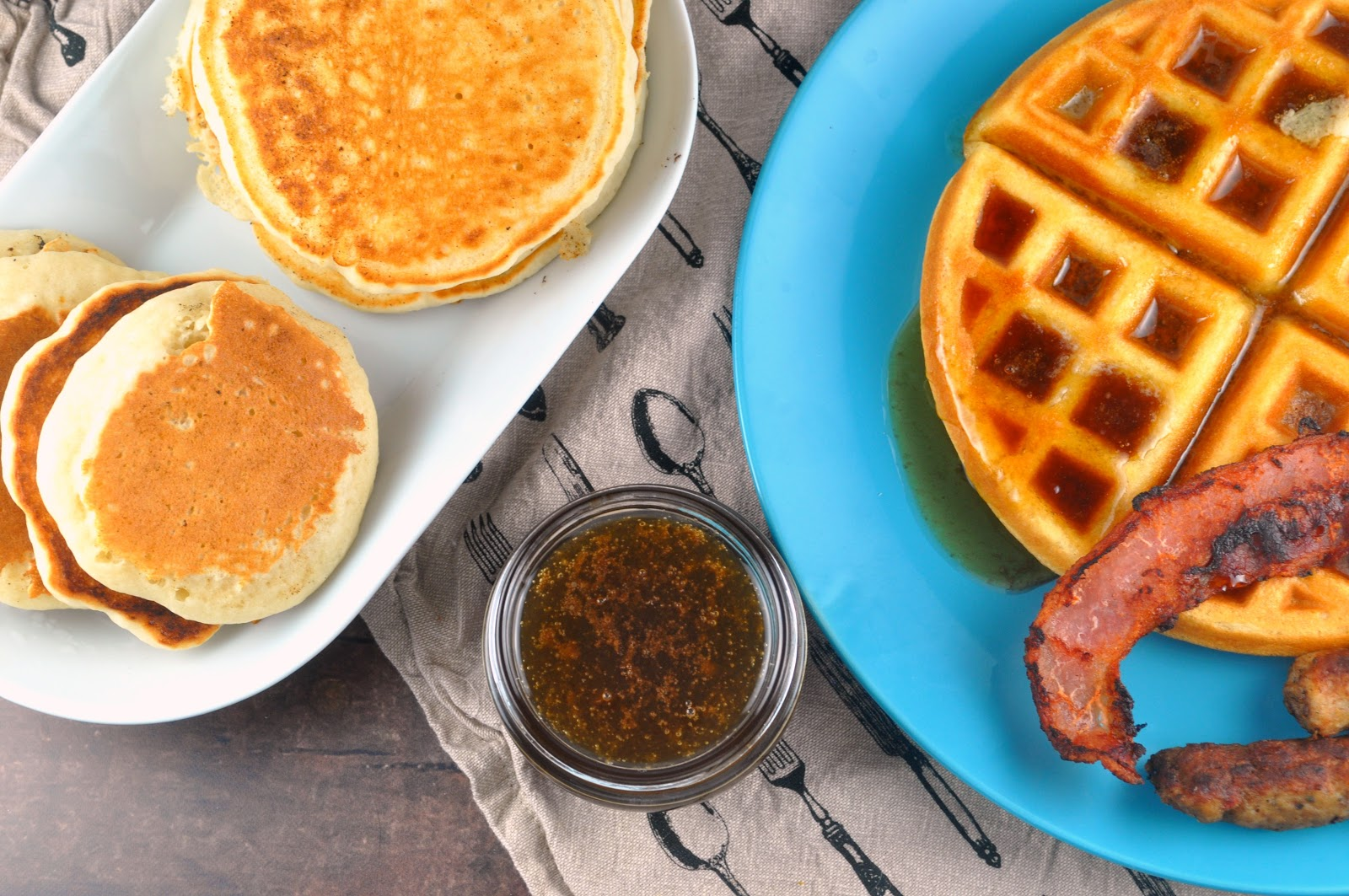 Food hussy recipe homemade syrup the food hussy we had pancakes waffles bacon sausage and homemade syrup the syrup was super easy too brown sugar water butter and vanilla thats it ccuart Image collections