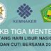 SKB Tiga Menteri Tentang Hari Libur Nasional dan Cuti Bersama Tahun 2018