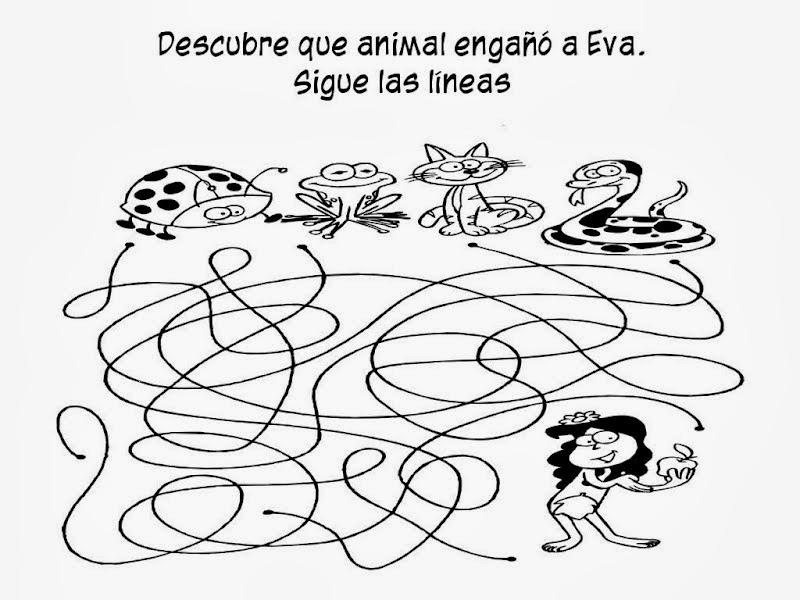 Hermosa Adán Y Eva Para Colorear Para Niños Foto - Ideas Para ...
