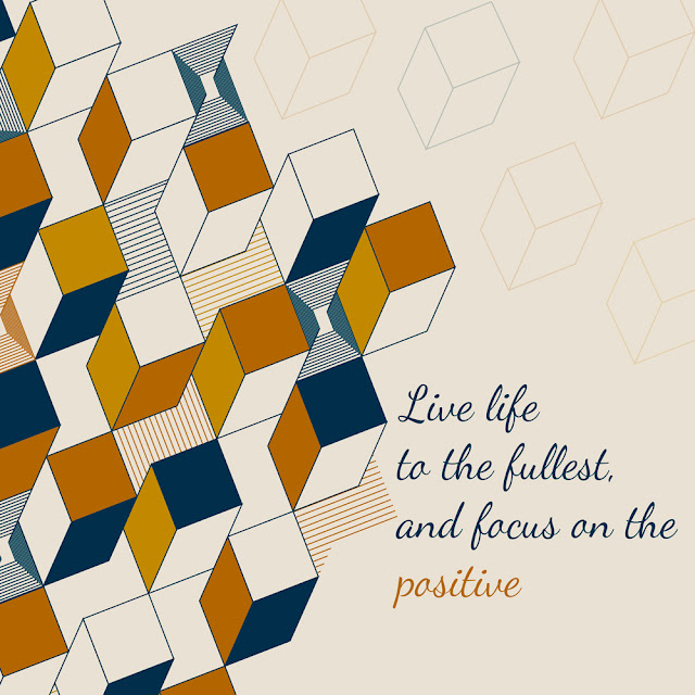 Beautifuly illustrated quote with tile pattern