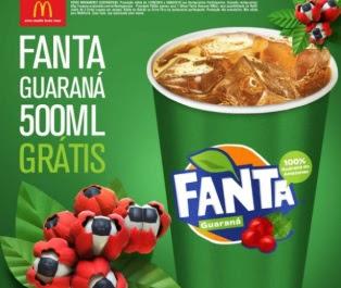 Promoção McDonald's Fanta Guaraná Grátis 500 ML