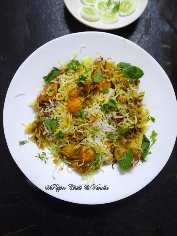 jheenga biryani recipe