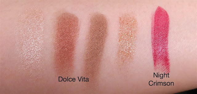 Charlotte Tilbury Dolce Vita and Night Crimson Swatch