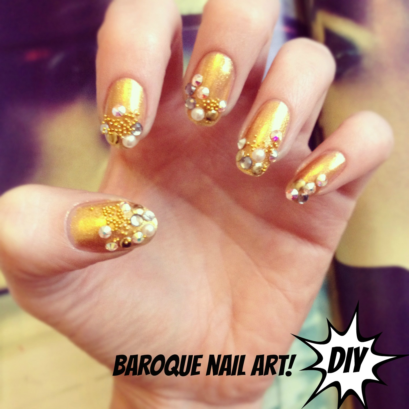Diy Baroque Nail Art Burkatron