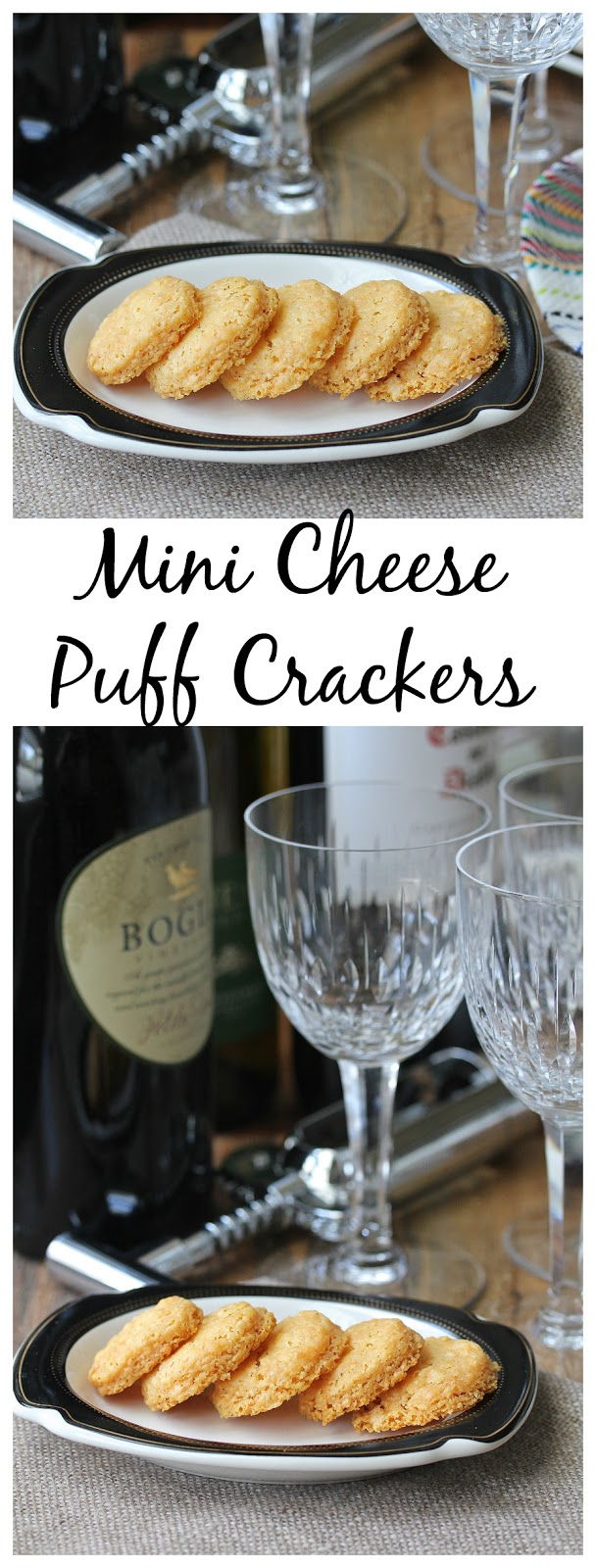 Mini Cheese Puff Crackers from Karen's Kitchen Storied