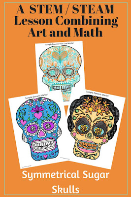 STEAM drawing of  a Mexican skull