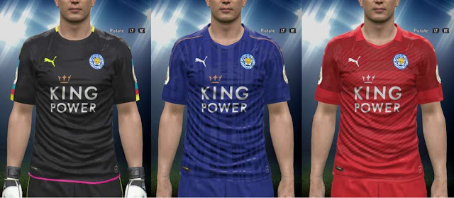 PES 2016 Leicester City Kit Season 2016/2017