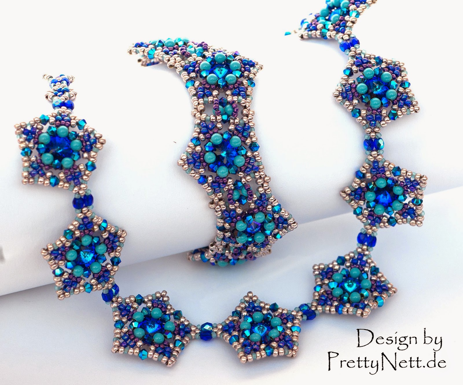 "Beading Pattern for necklace and bracelet ""Star Dust"" by PrettyNett"