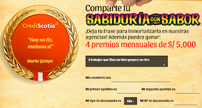 [Sorteo] Participa y gana uno de los 4 premios mensuales de S/ 5,000 - Sabiduría con Sabor