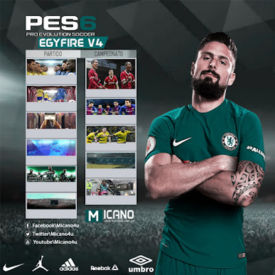 PES 6 EgyFire Patch v4 Season 2017/2018