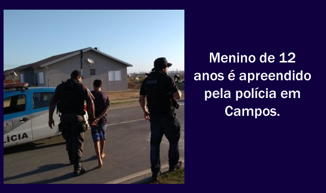 Menino de 12 anos foi apreendido com revólver em Campos, RJ