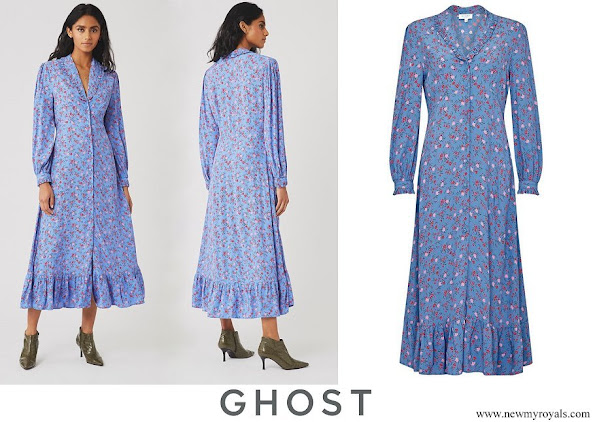 Kate Middleton wore Ghost Anouk Suzie spray floral dress