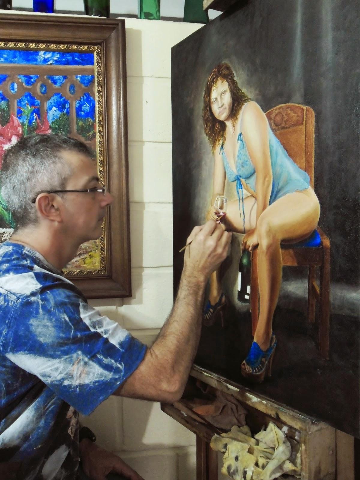 pintores realistas Colombianos Jorge Marín