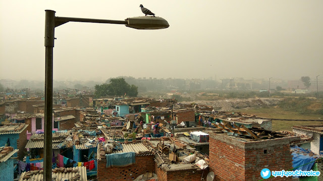 Delhi - Diwali 2016 After Effects Air Pollution Air Breathe Problem, Slum Area Pics India Poor