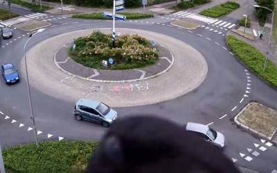 traffic circle in Purmerend, Netherlands