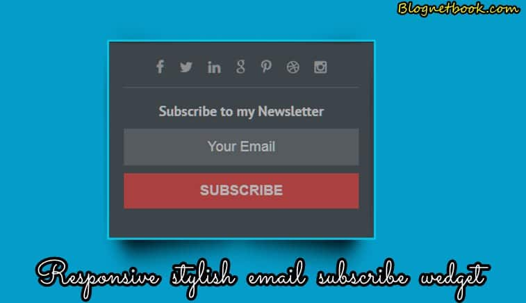 Best Email Subscription Widget Blog Website Me Kaise Lagaye.