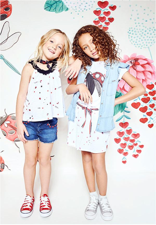 Remeras y blusas de moda para niñas primavera verano 2018. Moda nenas primavera verano 2018.