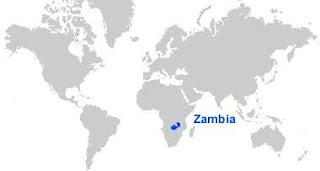 Gambar Peta letak Zambia