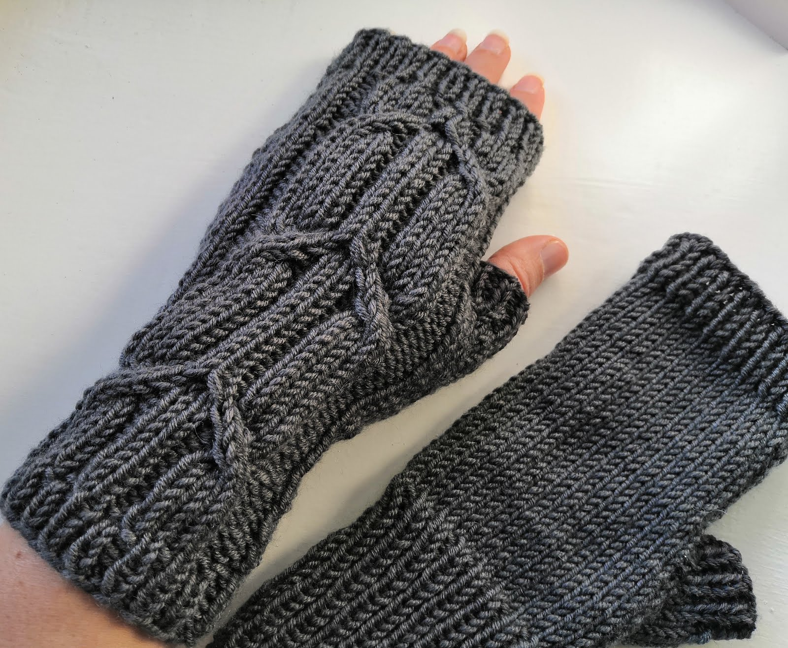 Ionic fingerless mitts