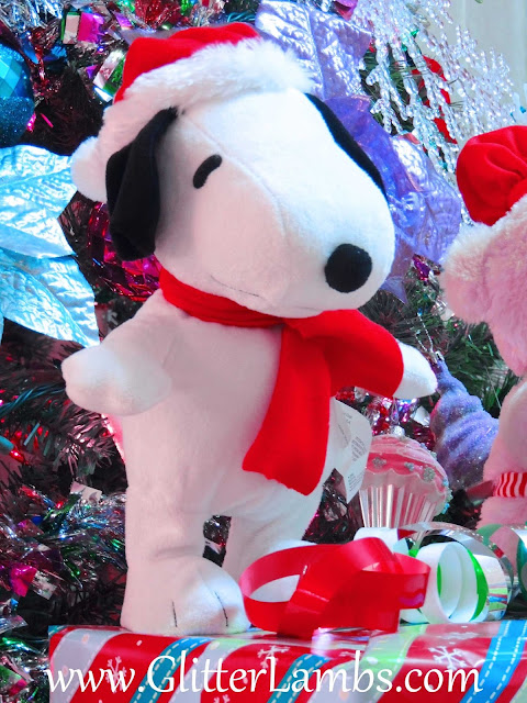 Christmas Snoopy Wearing Santa Hat and Scarf Singing Dancing Home Depot