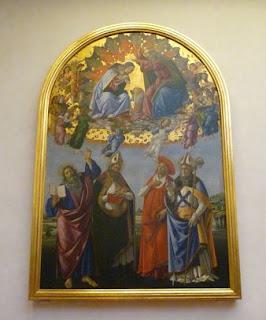 La Coronación de la Virgen (1489 ) de Sandro Botticelli.