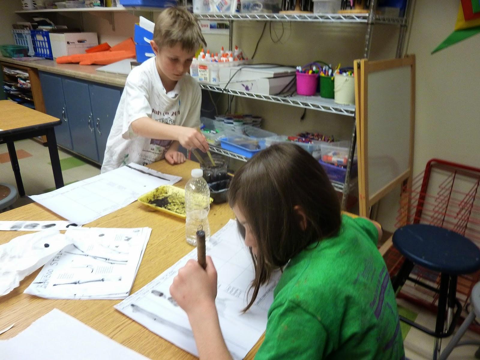 P C K Art Room Chinese Bamboo Painting 4th Grade
