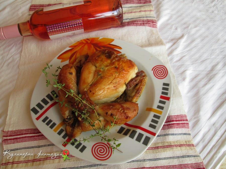 Печено пиле в плик