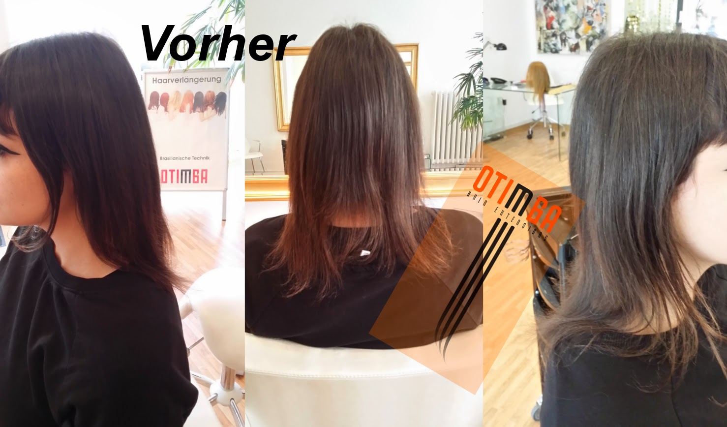 Haarverlangerung brasilianische technik