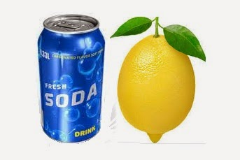 Air Soda Dan Jeruk Lemon
