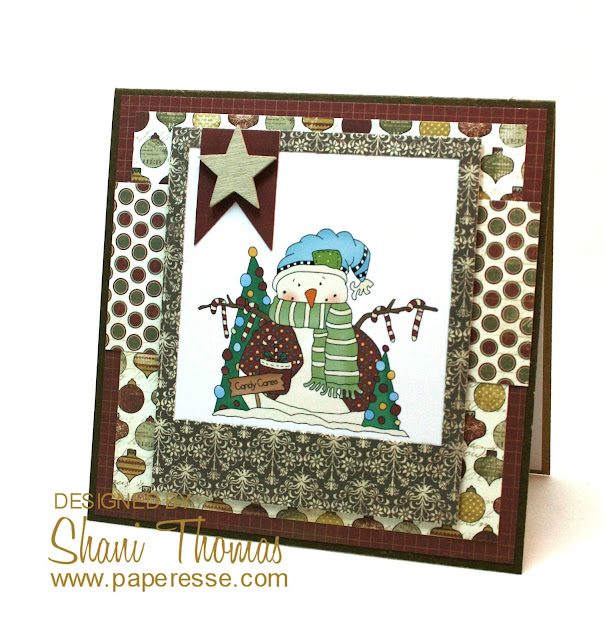 Christmas card featuring Digi Web Studio Little Snow Guys 1 topper, by Paperesse.