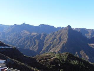 Vistas del Roque Nublo y Bentayga