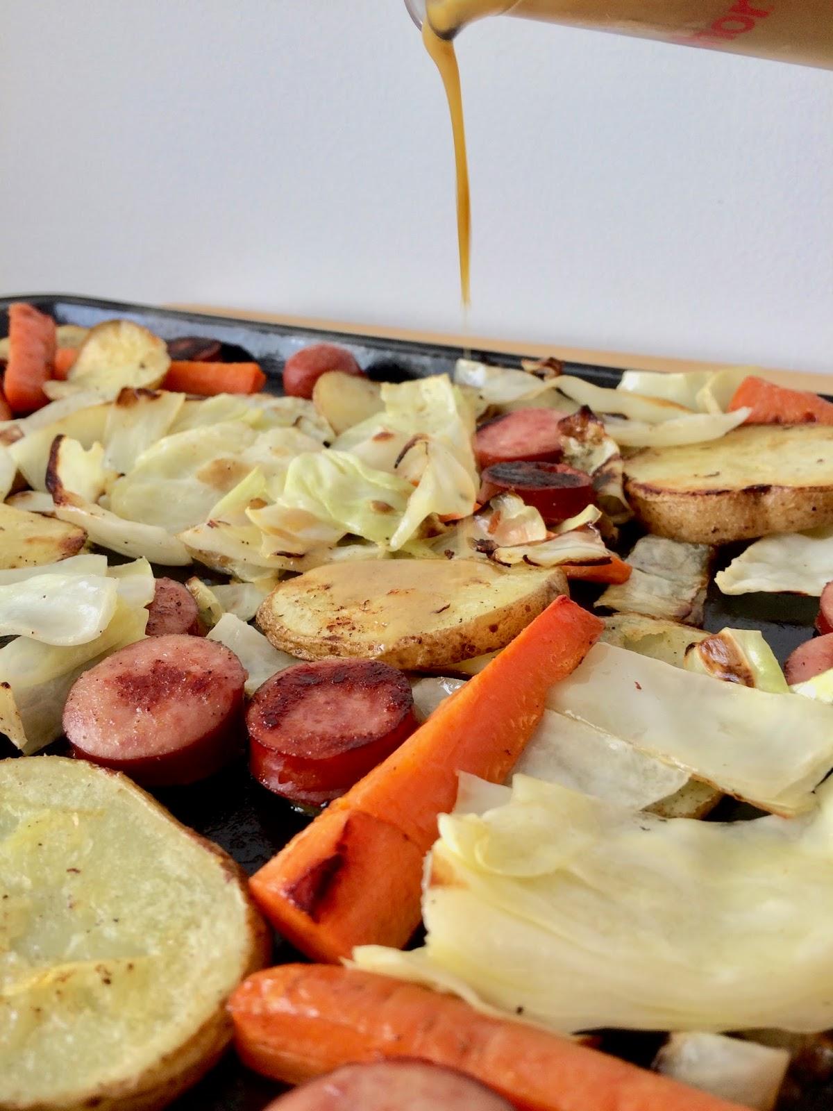 Savory Moments Sheet Pan Kielbasa Cabbage Amp Potato Dinner