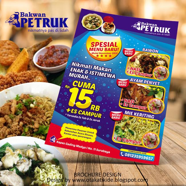 Startup Jasa Desain: Jasa Desain Brosur Promosi Rumah Makan Di Surabaya
