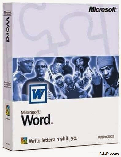 Funny Black Microsoft Word Software Joke Picture