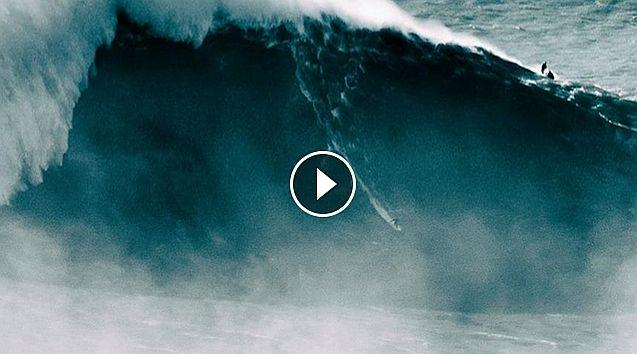 Massive Surfing Wipeouts - Nazare