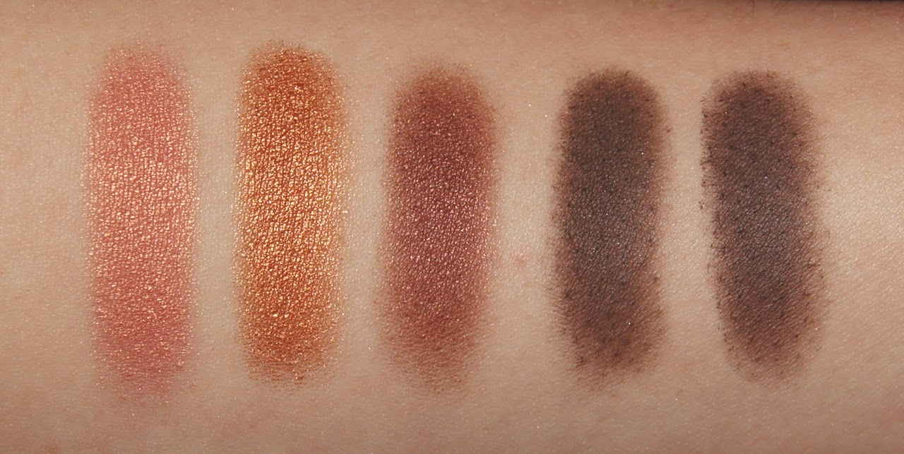 mac eyeshadow collection review swatches expensive pink amber lights twins mystery burn