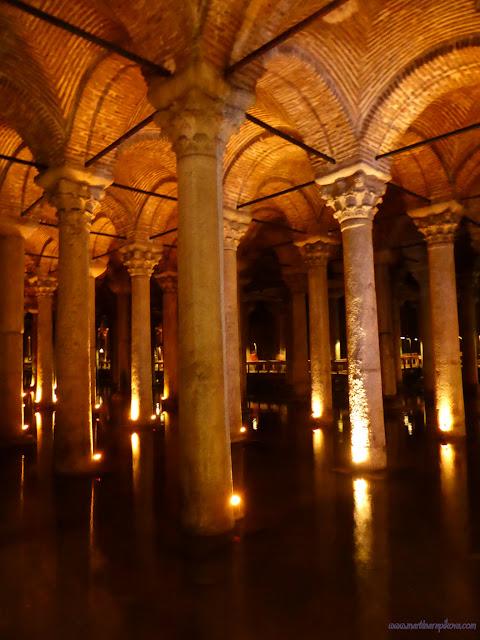 Podzemná Cisterna, zásobáreň vody, Istanbul, Turecko