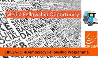 CIPESA-ICT4 Democracy Media Fellowship Programme 2018