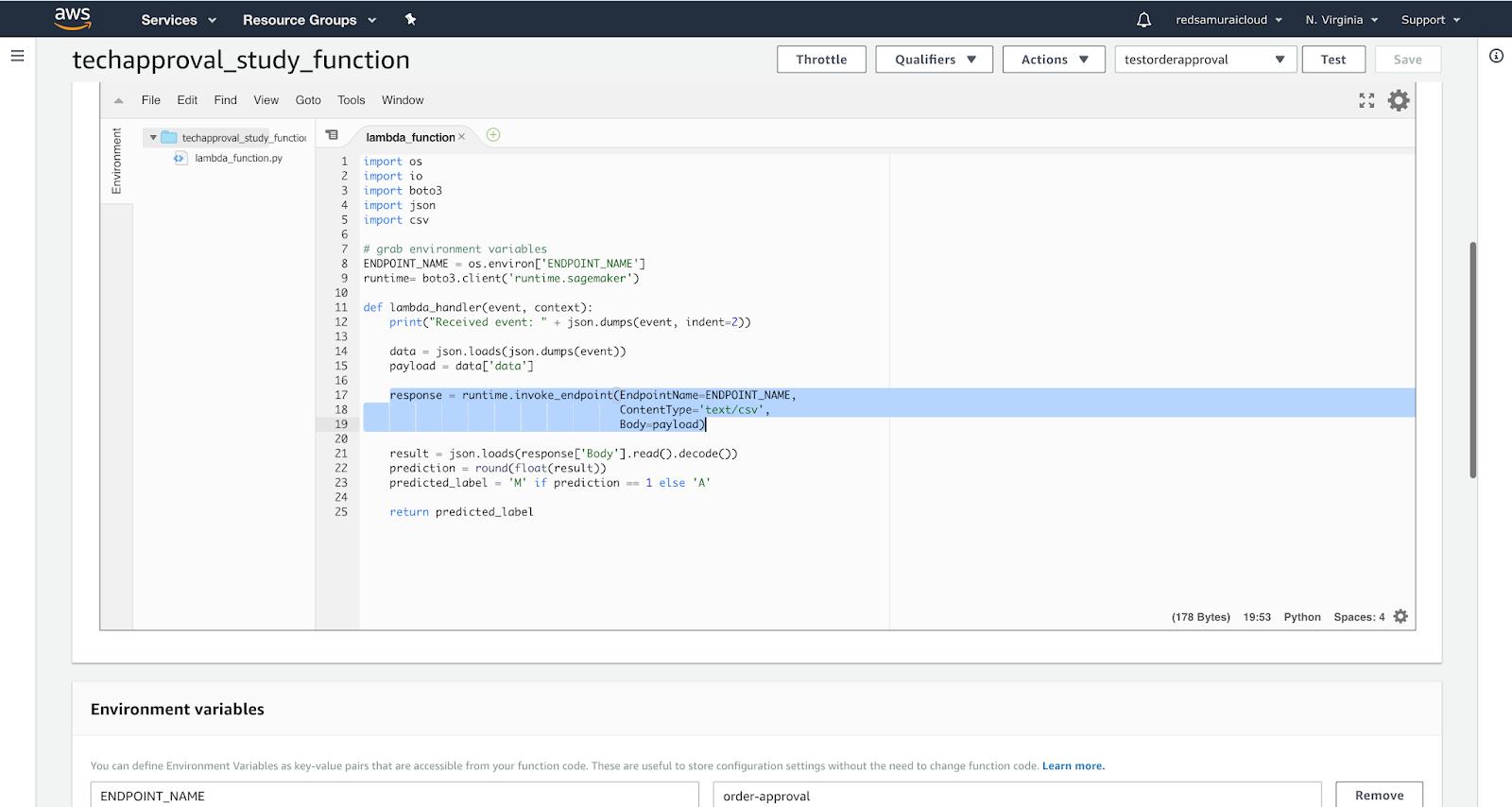 Andrej Baranovskij Blog: Amazon SageMaker Model Endpoint