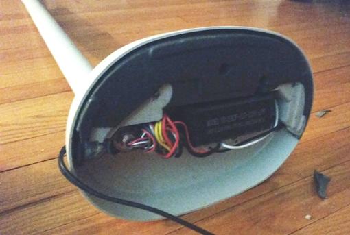 Meari S Musings Lamp Repair A Tutorial, Floor Lamp Concrete Base Repair