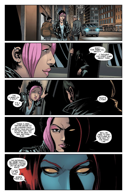 Review All-New X-Men Volume 2 Here to Stay All-New X-Men #7 Brian Michael Bendis David Marquez Mystique Raven Darkholme screw them all Marvel comic book issue