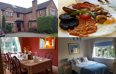 Scenes from Ayuda House B&B Altrincham Cheshire bedrooms, dining room etc