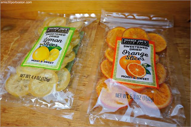 Rodajas de Limón y Naranja Secas y Dulces