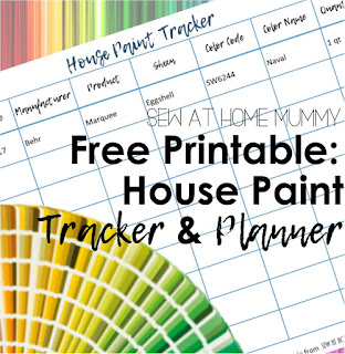 Easily keep track of which paint or stain you used and where, how much, what brand and color on this free printable chart from Sew at Home Mummy! Get rid of all of those old nasty paint cans, and a great selling feature for future buyers!