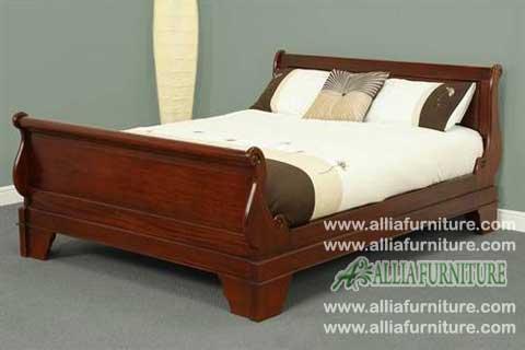 tempat tidur kayu jati model bagong