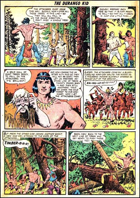 Frank Frazetta 1950s golden age western comic book page / Durango Kid #5