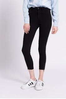 Only - Jeans dama negri trei sferturi
