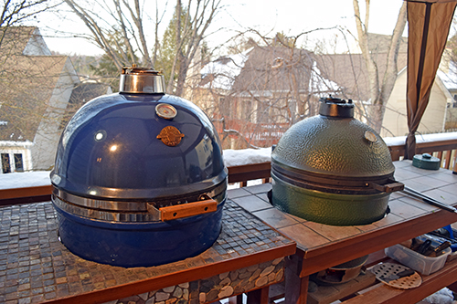 Ceramic kamado grills, like Grill Dome and BGE, are all weather grills and smokers.